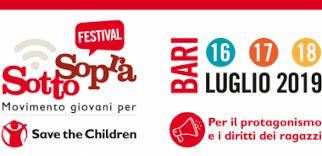 Al via a Bari dal 16 al 18 luglio il Festival SottoSopra 2019 del Movimento giovani per Save the Children: 350 ragazzi da tutta Italia per una tre giorni sul tema dei diritti e del protagonismo
