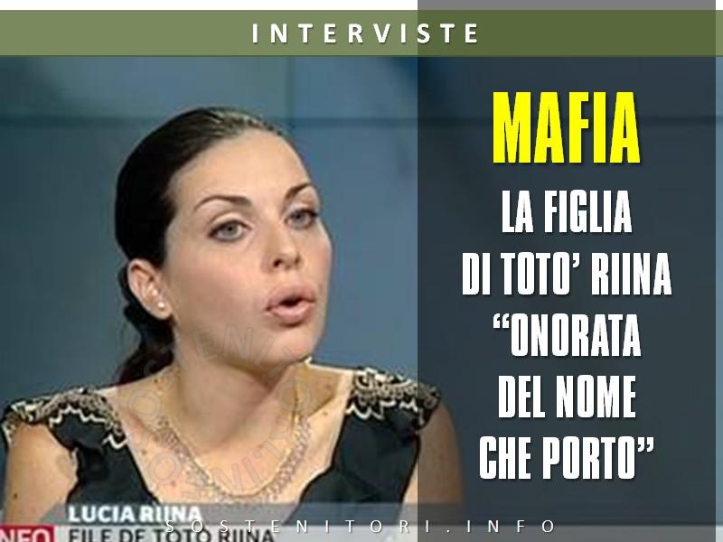 """Mafia: parla la figlia di Totò Riina """" accusare mio padre faceva comodo a molti"""""""