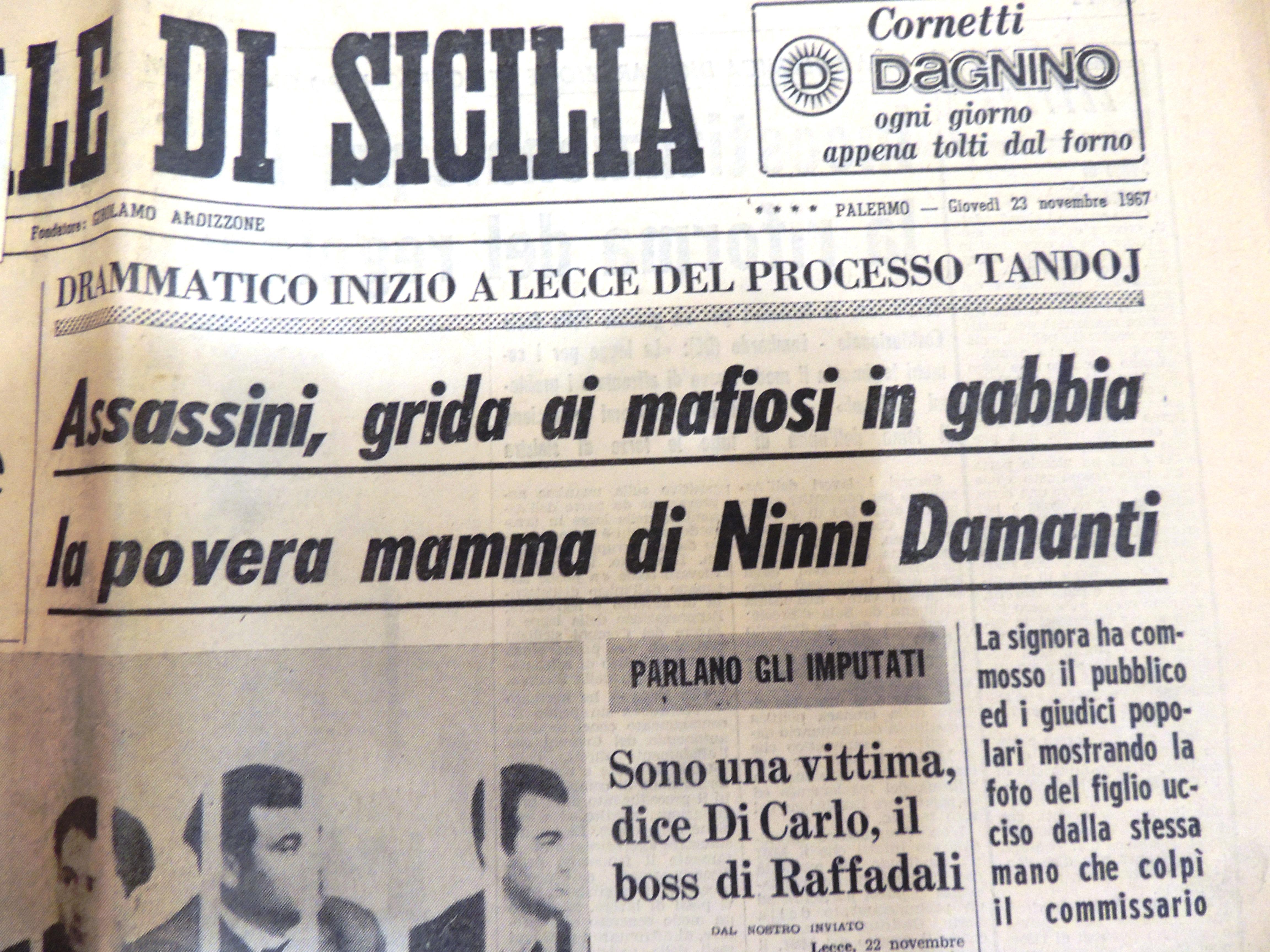 Storia: l'omicidio del commissario Tandoy tra mafia, politica e complottismo