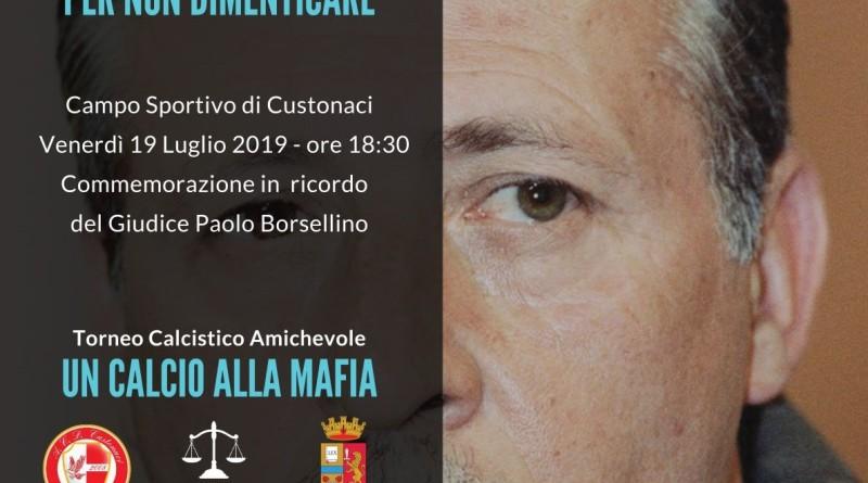 «In memoria di Paolo» commemorazione del Giudice Borsellino a Custonaci