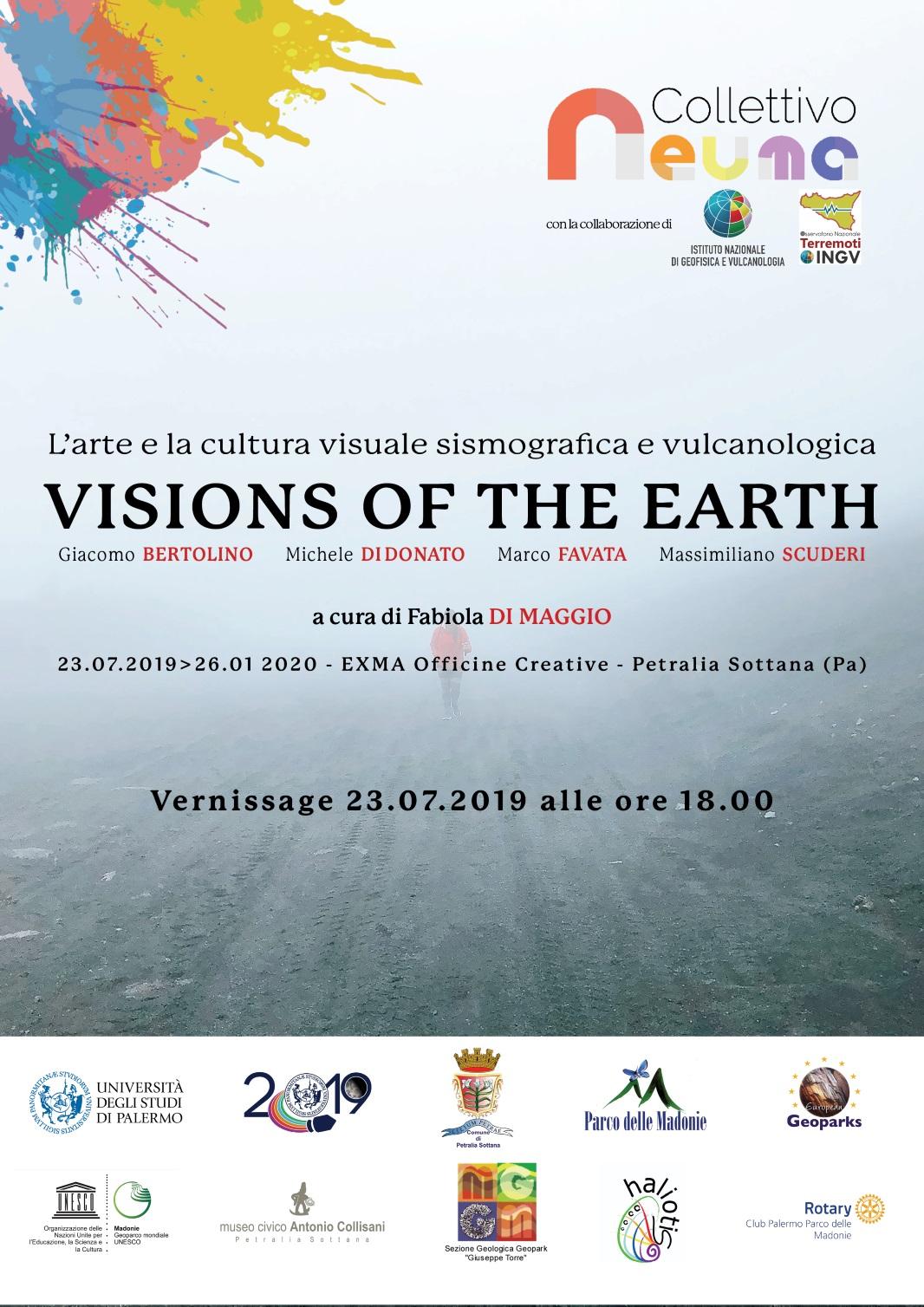 VISIONS OF THE EARTH: fa tappa a Petralia Sottana la mostra del Collettivo Neuma che racconta la sismologia e la vulcanologia attraverso le opere di 4 artisti siciliani