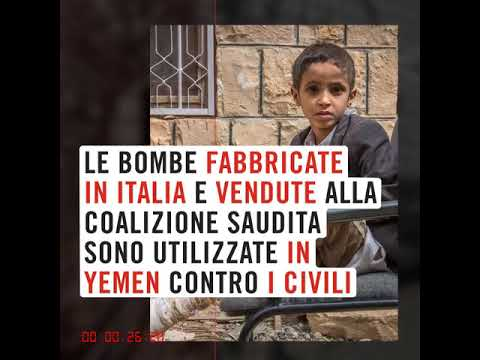 """Conflitto in Yemen: """"Stop armi italiane in Yemen"""", flash mob a Montecitorio della società civile italiana"""