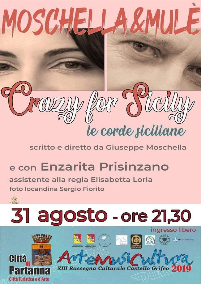 Partanna – Domani sera Crazy for Sicily al Castello Grifeo