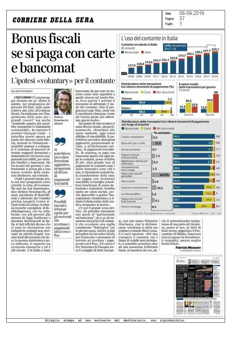 «Voluntary disclosure» per il contante – Stefano Simontacchi intervistato a Cernobbio Ambrosetti The European House