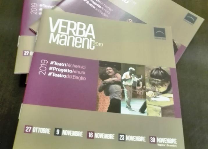 Verba Manent: quattro spettacoli, unaperitivo sociale e un laboratorio teatrale, gli appuntamenti della IV edizione