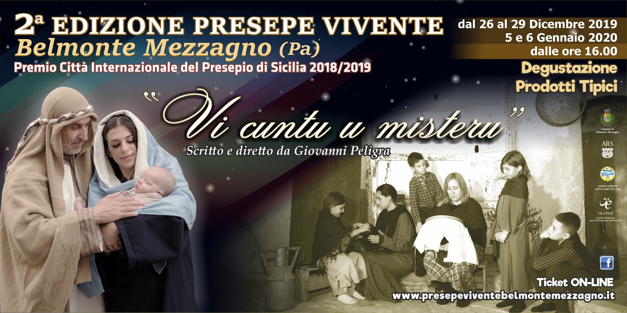 "Vi Cuntu u misteru"", la seconda edizione del Presepe Vivente di Belmonte Mezzagno"
