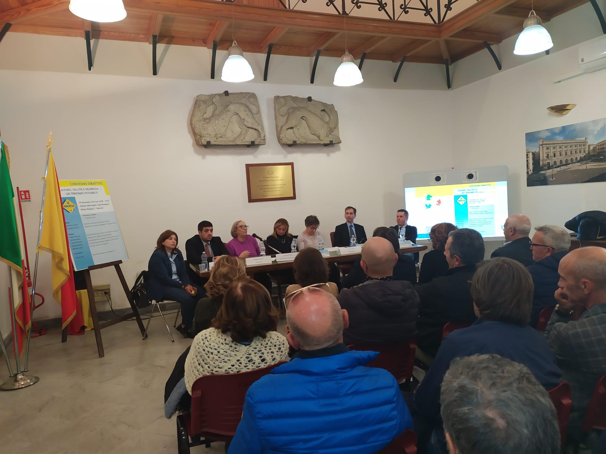 """Lavoro e sicurezza, convegno a Palermo. Confintesa: """"Vera emergenza, servono risposte"""""""