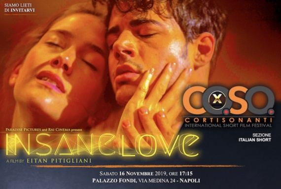 """Eitan Pitigliani il 16 novembre a Napoli per CortiSonanti con il corto """"Insane Love"""""""