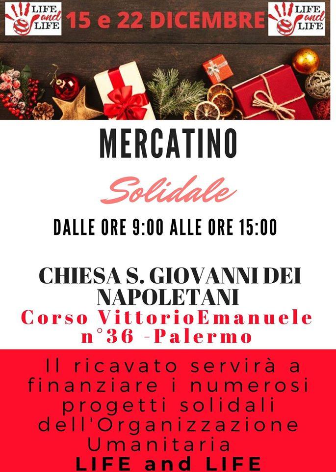 """Il mercatino solidale della LIFE and LIFE, domenica 22 dicembre, a """"San Giovanni dei Napolitani"""""""