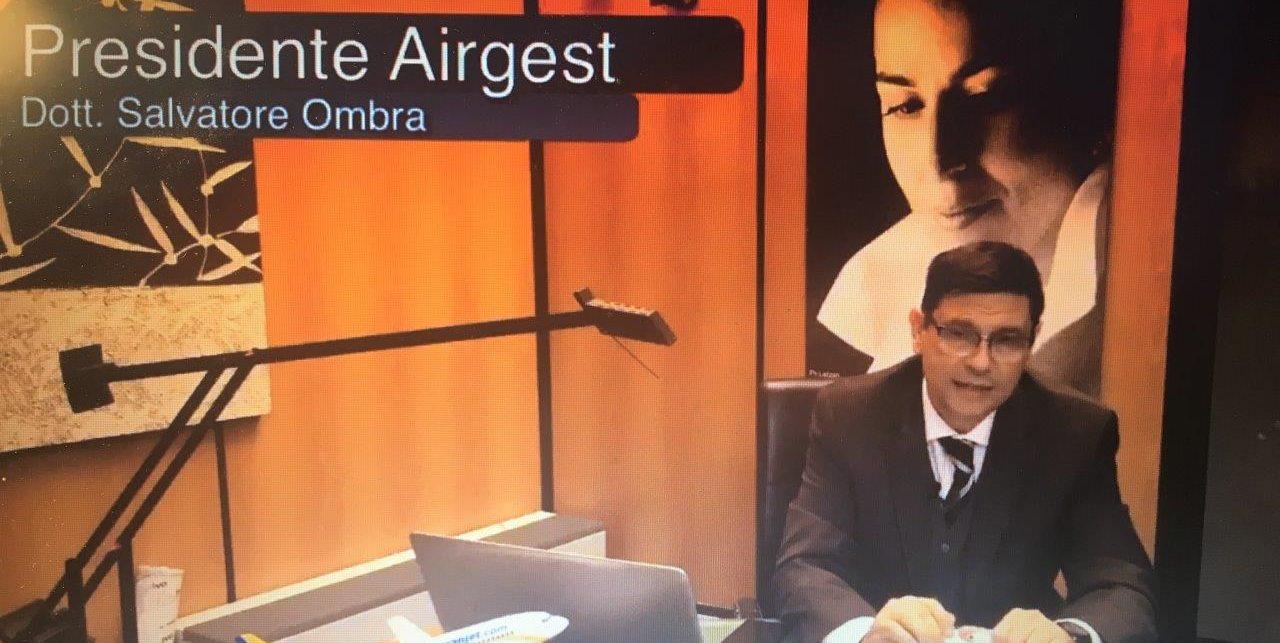 Il presidente Salvatore Ombra fa un'analisi dei cento giorni alla guida di Airgest
