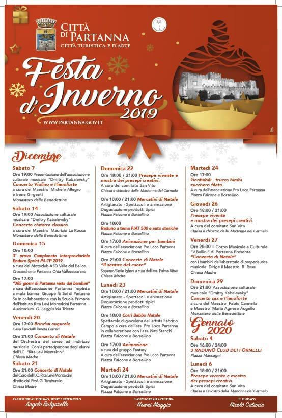 Partanna – Programma Natale 2019