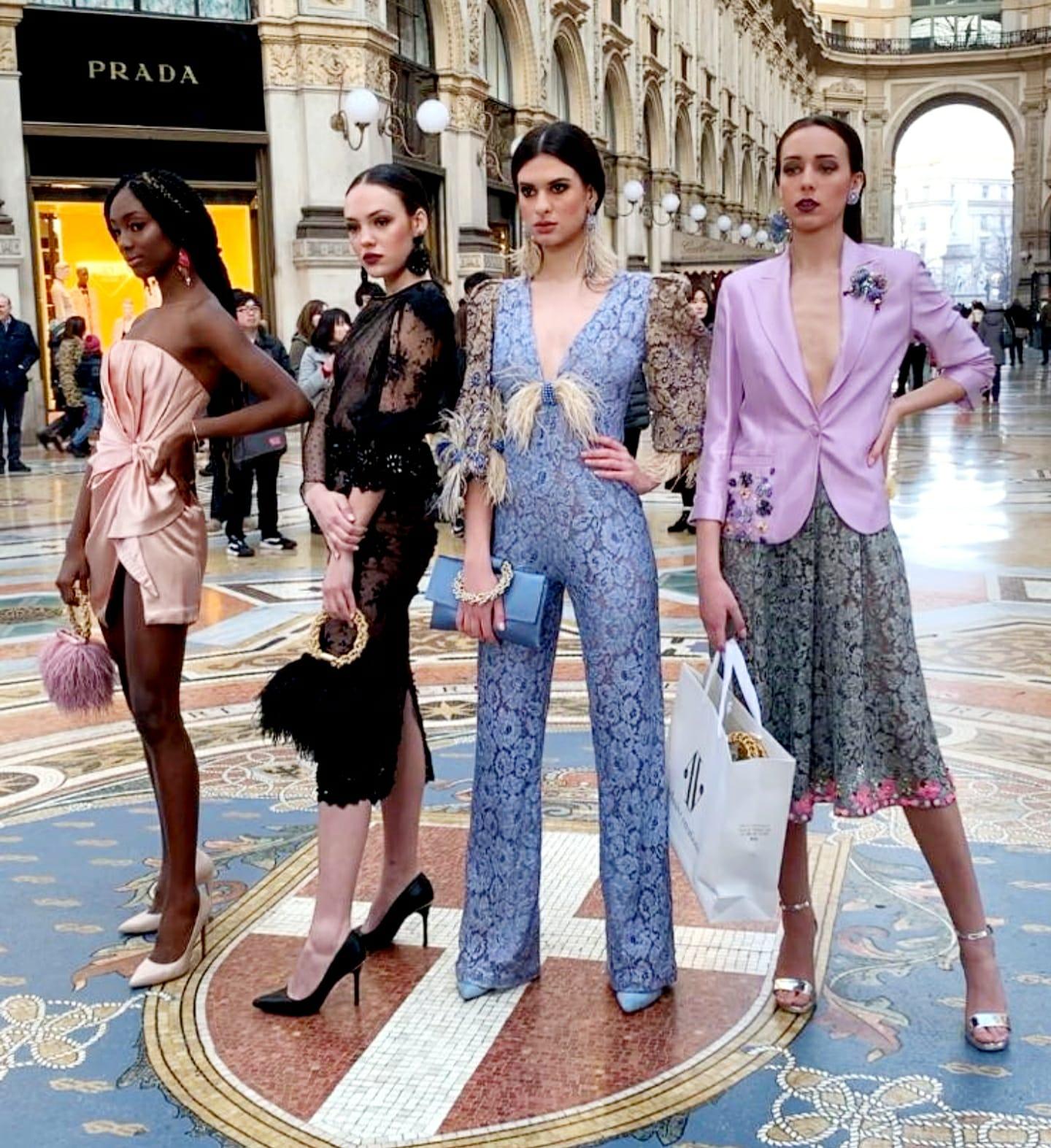 La Vanity Models di Francesco Pampa incanta Milano:successo per lo shooting in piazza