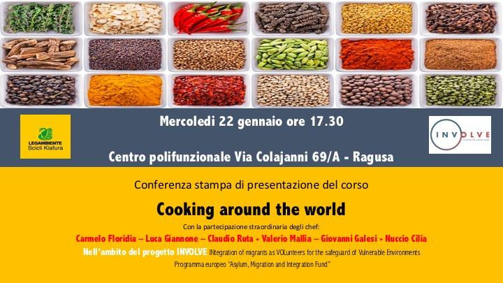 Cooking around the world. Oggi a Scicli!