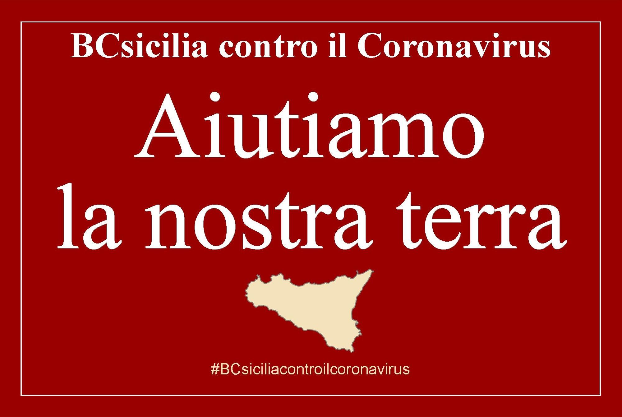 BCsicilia aderisce alla campagna SOS Coronavirus promossa dalla Fondazione Sicilia