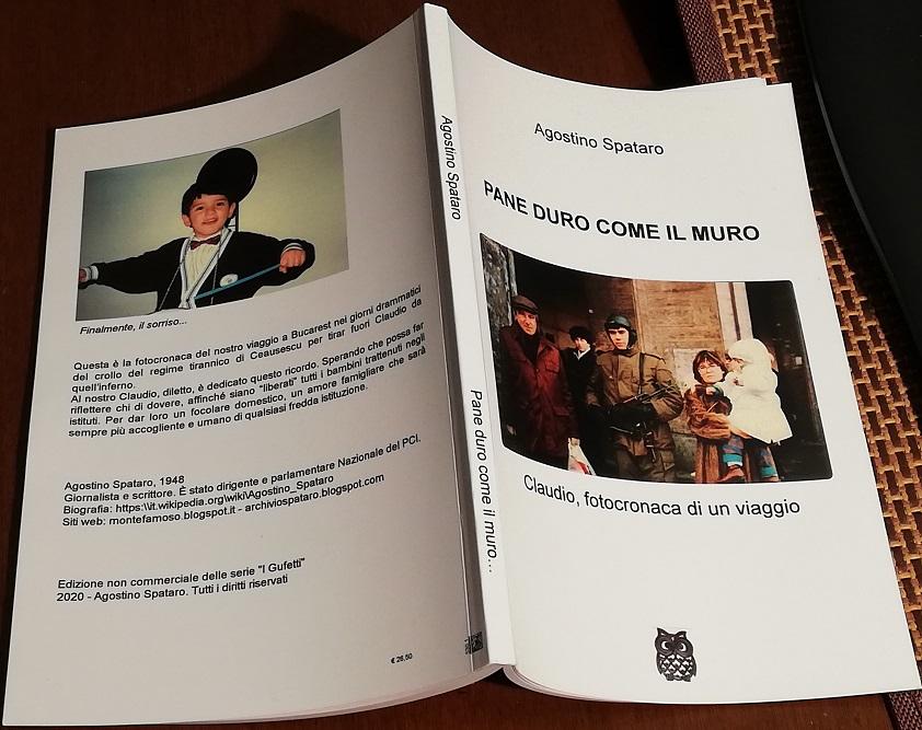 """""""PANE DURO COME IL MURO- Claudio, fotocronaca di un viaggio""""- nuovo libro di Agostino Spataro"""