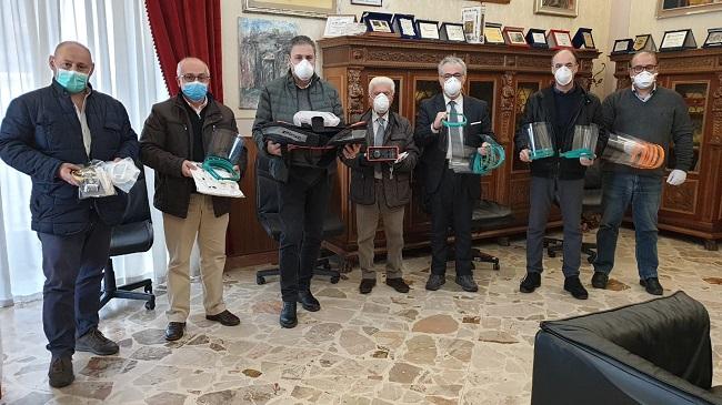 Partanna – Amministratori donano ventilatore polmonare e dpi all'ospedale di Castelvetrano