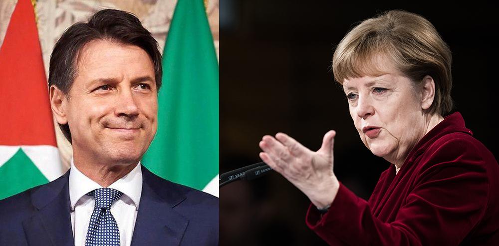 """Eurogruppo, Merkel ribadisce: no agli Eurobond """"A Conte ho parlato di altri strumenti"""""""