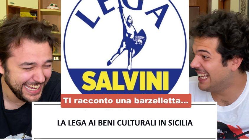 """""""Ti racconto una barzelletta"""", l'ironia dei Sansoni contro la Lega ai beni culturali in Sicilia"""