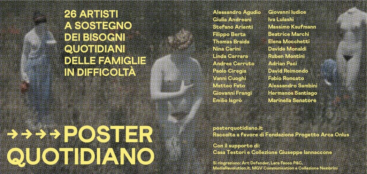 POSTER QUOTIDIANO is born, da un idea di Iva Lulashi, Adrian Paci e Fabio Roncato – con la collaborazione di Casa Testori e Collezione Giuseppe Iannaccone