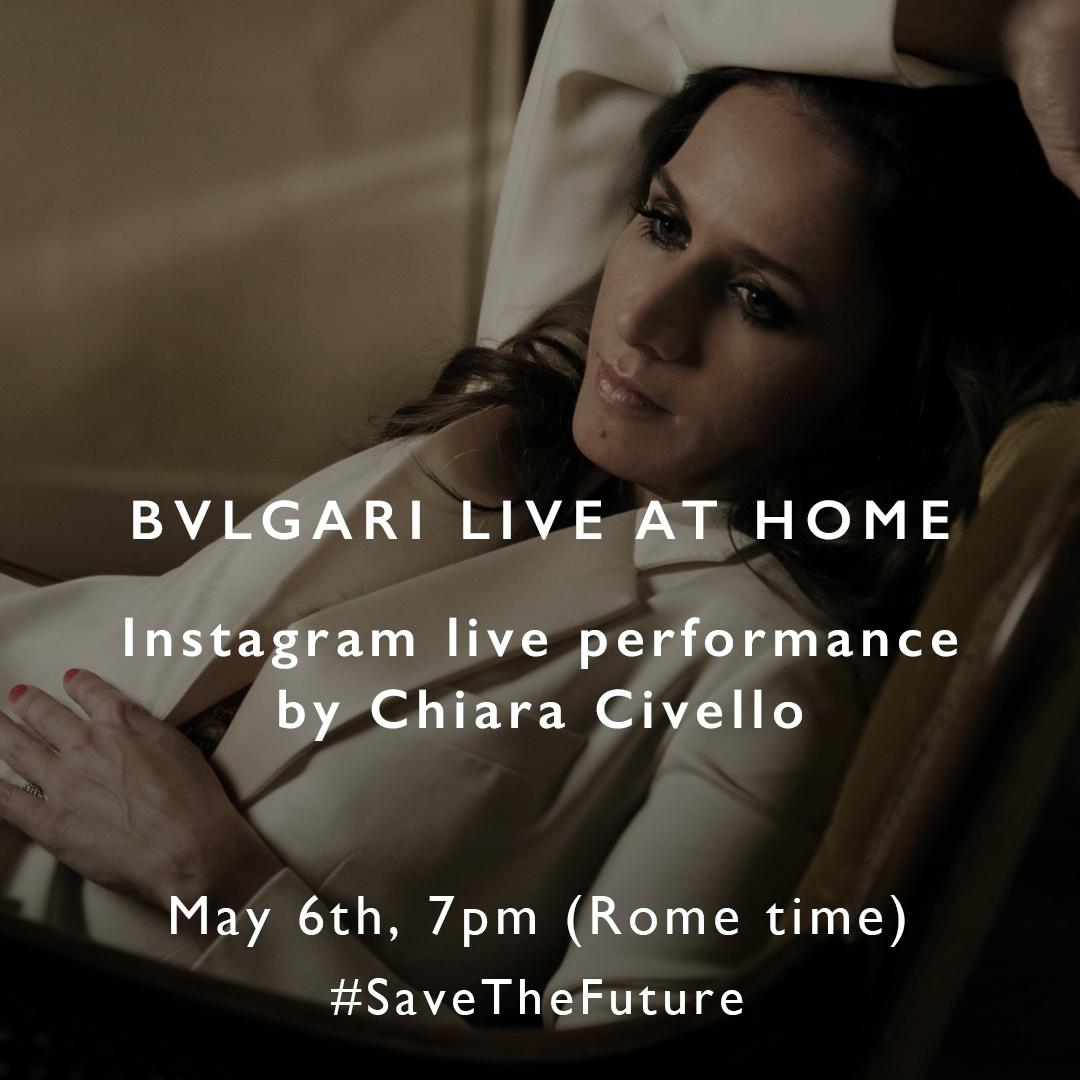 """Coronavirus: Partiti i """"Bulgari Live Home"""", la rassegna musicale di Bulgari in diretta su Instagram a favore dei progetti di Save the Children"""