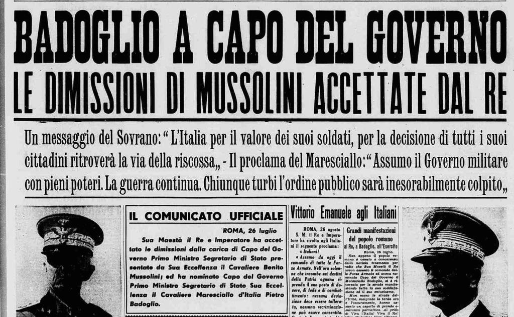 QUEL 25 LUGLIO 1943 RICORDI E COMMENTI DI UNO CHE C'ERA