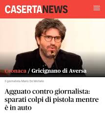 Antimafia: i Carabinieri scoprono il falso attentato del giornalista campano, de Michele