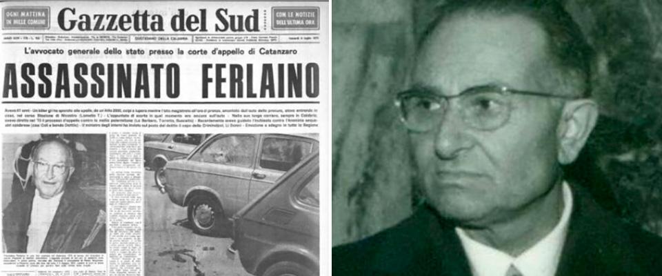 Commemorazione giudice Francesco Ferlaino vittima di mafia e solidarietà a Nicola Gratteri procuratore di Catanzaro