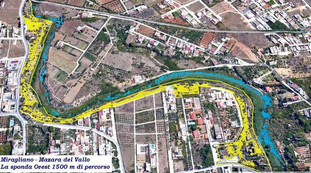Mazara del Vallo – 1500 mt di un percorso nascosto- La sponda Ovest del Fiume Mazaro..