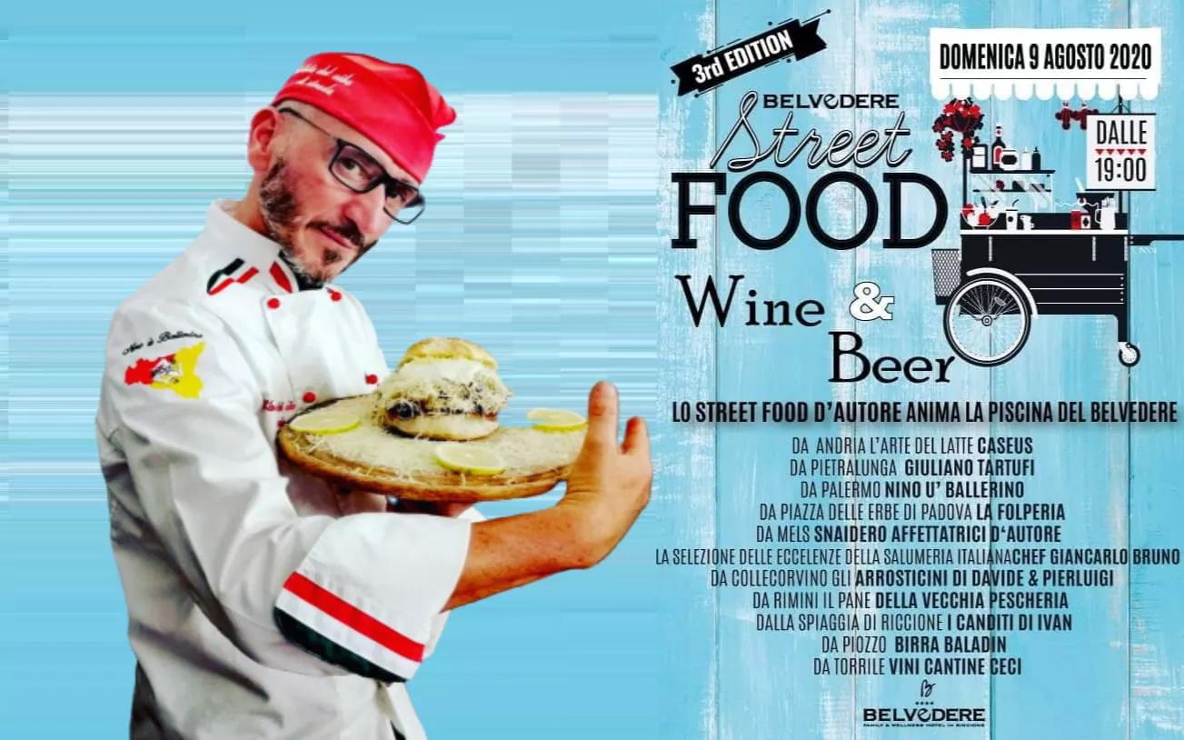 """""""Belvedere"""" di Riccione, tutto pronto per la III edizione di """"Street food Wine & Beer""""."""