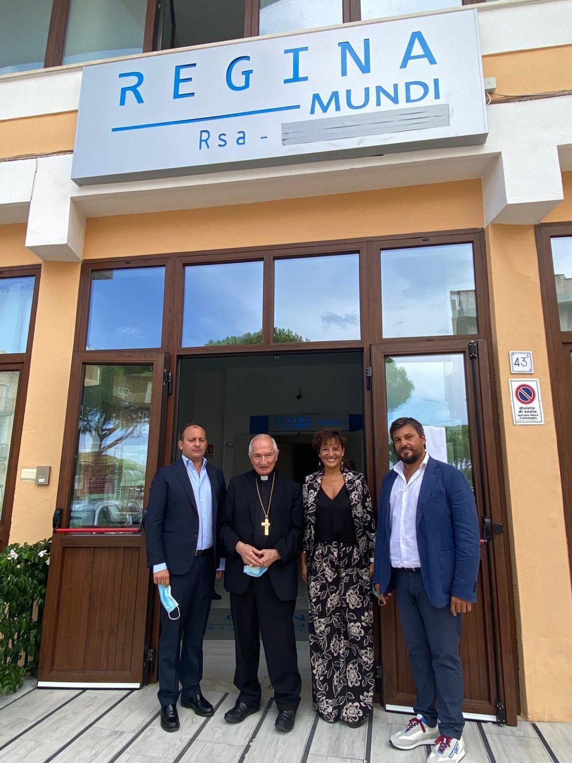 S. E. Mons. Silvano Tomasi in visita alla RSA Regina Mundi di Finale di Pollina