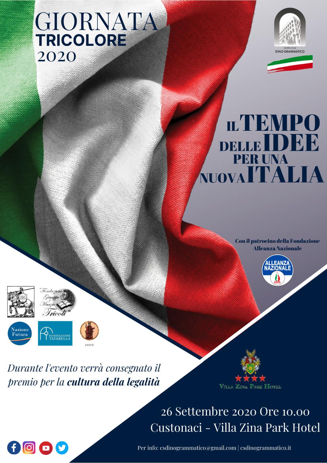 «Il Tempo delle Idee» alla «Giornata Tricolore 2020».