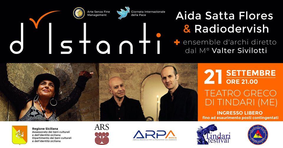 Anteprima nazionale il 21 settembre, al Teatro Greco di Tindari, con Aida Satta Flores e i Radiodervish, diretti dal M° Valter Sivilotti