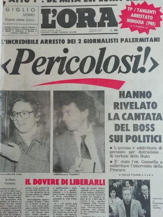 Mafia e Misteri di Stato: quando i giornalisti , Bolzoni e Lodato furono arrestati dal Procuratore Curti Giardina
