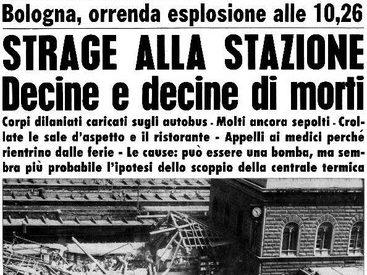 """I giudici di Bologna sull'attentato alla stazione :"""" fu una strage di Stato"""""""