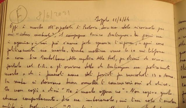MORTE E FUNERALI DI ENRICO BERLINGUER, un ricordo di Agostino Spataro *