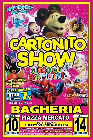 """Divertimento con """"Cartonito Show"""" di Happy Circus  dei fratelli Medini a Bagheria"""
