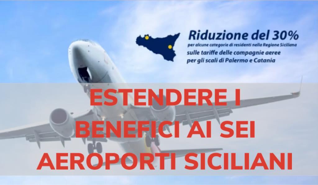 """Sicilia Vola: Ombra, aeroporto di Trapani a Cancelleri: """"Lo sconto sia esteso a tutti gli aeroporti dell'Isola. I bisognosi sono uguali"""""""