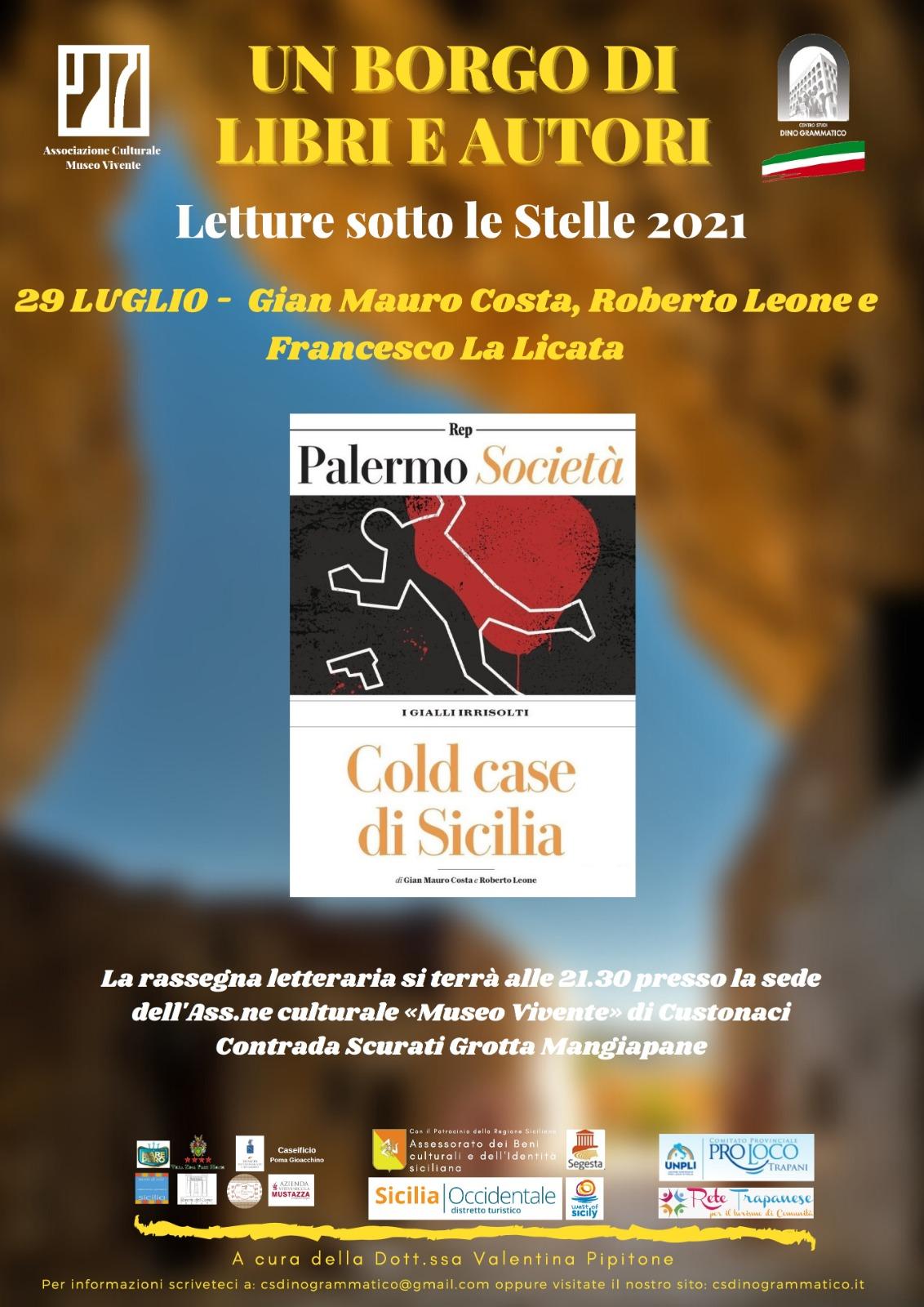 Ad «Un Borgo di Libri ed Autori» si presentano i «cold case» di Sicilia.