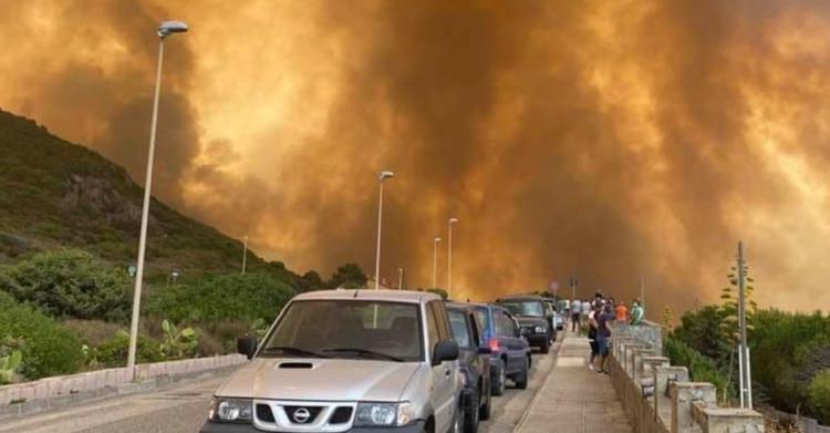 Messaggio di solidarietà alla popolazione sarda per la catastrofe ambientale dovuta agli incendi