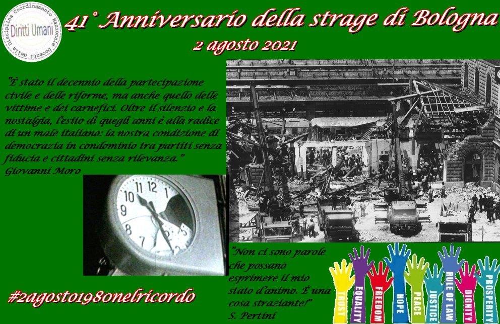 41° anniversario della strage di Bologna. CNDDU: è importante ricordare la strage di Bologna nelle scuole come tappa drammatica della nostra storia politica
