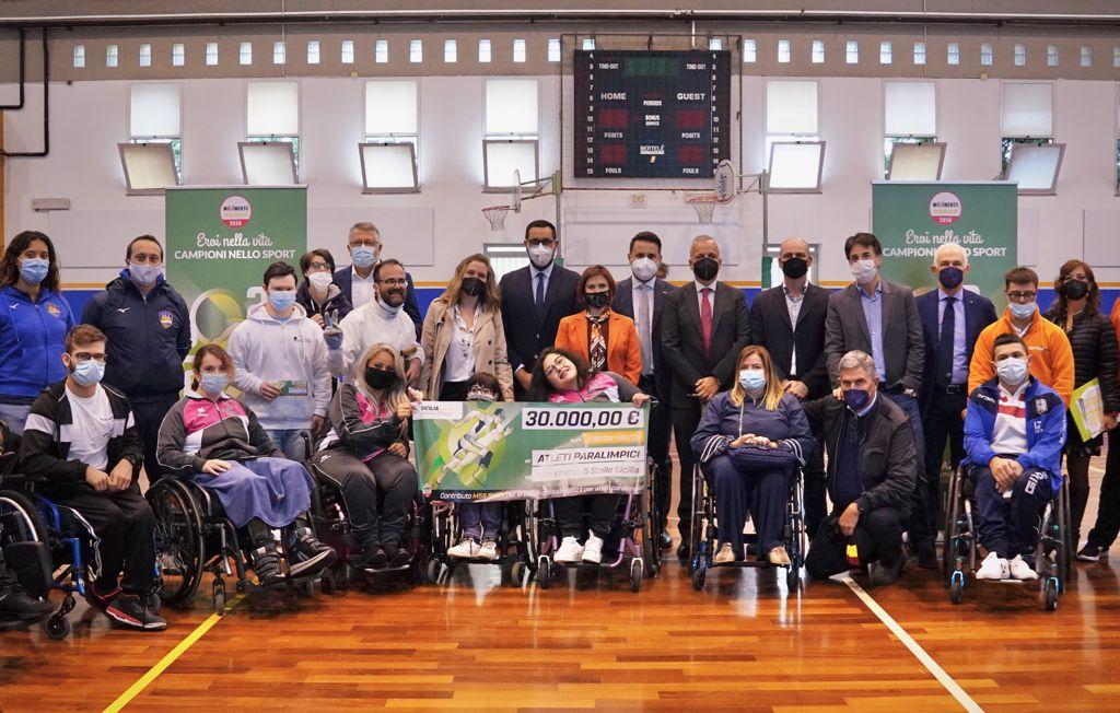 30 mila euro dal M5S all'Ars per l'attività sportiva degli atleti disabili siciliani. Consegnate oggi a Palermo 60 borse di studio